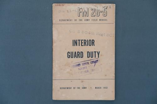 FM 26-5 Interior Guard Duty