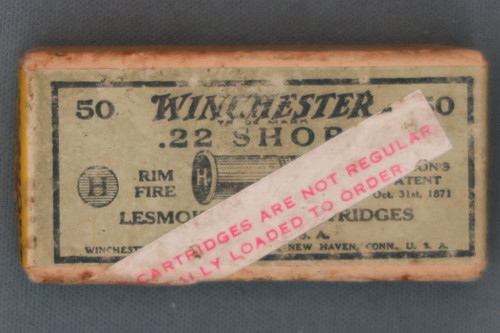 Winchester 22 Short Lesmok Special Loaded Cartridges, Top