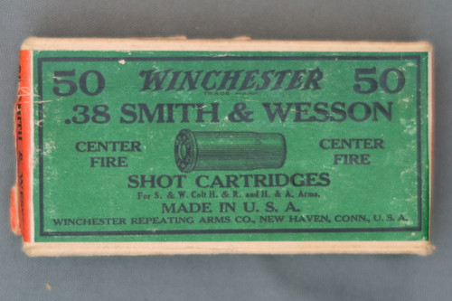 Winchester 38 Smith & Wesson Center Fire Shot Cartridges, Top