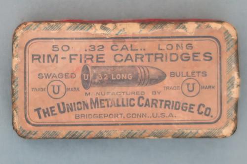 50 .32 Cal., Long Rim-Fire Cartridges by The Union Metallic Cartridge Co., Top