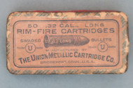 50 .32 Cal., Long Rim-Fire Cartridges by The Union Metallic Cartridge Co., Top