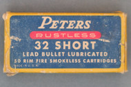 Peters Rustless 32 Short Rim Fire Cartridges, Top