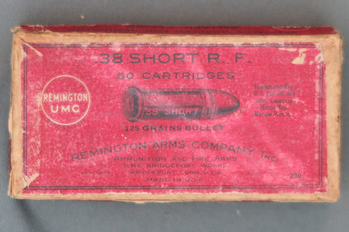 .38 Short Rim Fire by Remington Arms Company Inc., Top