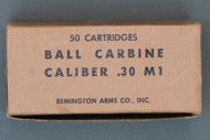 50 Cartridges Ball Carbine Caliber .30 M1 by Remington Arms Co., Inc.