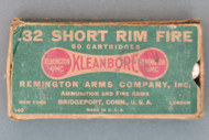 .32 Short Rim Fire Kleanbore Remington Arms Company Cartridges, Top