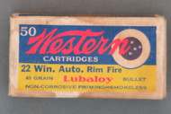 Western 22 Win. Auto. Rim Fire Cartridges, Top