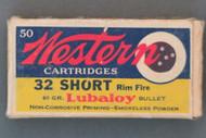 Western 32 Rim Fire Cartridges, Top