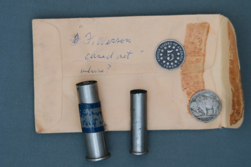 Two Interesting Old F. Wesson Cases with Envelope