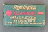 Remington Kleanbore Hi-Speed 22 Long Rifle Hollow Point Cartridges, Top