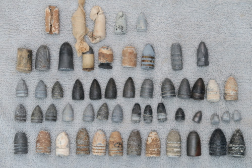 Old Collection of Civil War Bullets