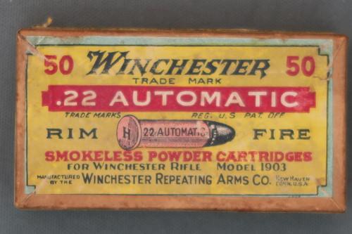 Winchester .22 Automatic Rim Fire Ammo, Top