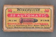 Winchester 22 Automatic Rim Fire Ammo, WA-6-A, Top