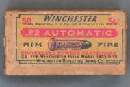 Winchester 22 Automatic Rim Fire Ammo, WA-6-B, Top