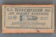 Winchester .25 Short Stevens Lesmok Rifle Cartridges, Top