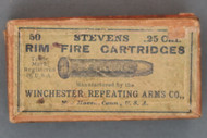 Stevens .25 Cal. Rim Fire Cartridges by Winchester Repeating Arms Co.,  Top