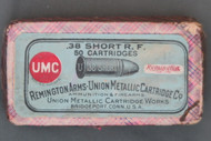 Remington Arms UMC .38 Short Rim Fire With Company Name Change Insert
