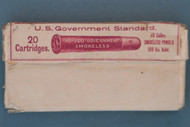 Twenty .45-500 Gov't. Smokeless Central Fire Cartridges by UMC Co., Front