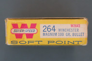 Winchester 264 Win Mag 100 Grain Soft Point Ammo, Right End
