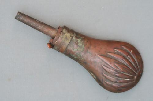 Old Pistol Powder Flask, Front Side