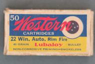 Western 22 Win. Auto. Rim Fire Ammo, Top