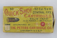 Peters Quick Shot 32 Cal. S&W Central Fire Cartridges Top