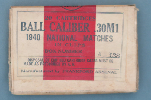 .30M1 1940 National Matches Ammo In Clips