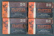 30-06 Frontier Cartridges Loaded With Hornady Super-Shock Bullets, Box Fronts