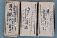 .30 Carbine Military Ammo 150 Rounds In Boxes