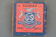 US Cartridge Co. 16 Gauge Climax Shot Shell Box Front