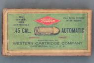 Western .45 Cal. Automatic Smokeless Powder Cartridges Top