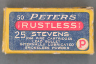 Peters Rustless 25 Stevens Cartridges Top
