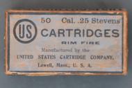 Cal. .25 Stevens US Cartridges, Top