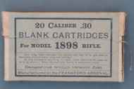 20 Caliber .30 Blank Cartridges For Model 1898 Rifle, Front