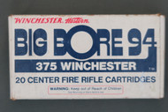Winchester Big Bore 94 375 Winchester Cartridges, Front