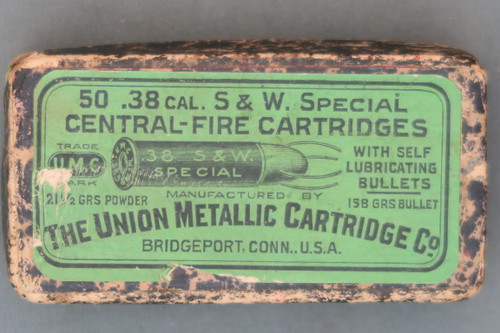 UMC Self Lubricating Bullet 38 S&W Special Box Top