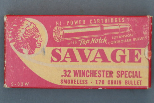 Savage .32 Winchester Special Top Notch Box Front