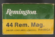 44 Remington Magnum Shooter Ammo, Box End
