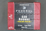 Federal 22 Long Rifle Ammo 550 Rounds Hollow Point, Top
