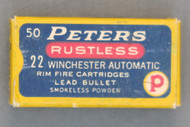 Peters Rustless 22 Winchester Automatic Rim Fire Cartridges, Top