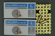 9mm Luger Full Metal Jacket Ammo, 150 Rounds