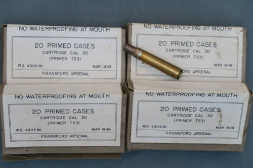 Frankford Arsenal Primed 30-06 Cases, 4 Boxes