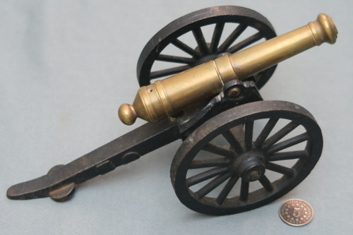 Brass and Cast Iron Cannon Model