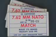 7.62 Nato LC Match Ammo, 3 Boxes