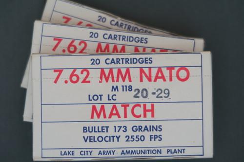 7.62 Nato LC Match Ammo, 3 Boxes