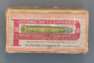 Peters 25-20 Single Shot C.F. Cartridges, Top