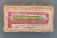 Peters 25-20 Single Shot C.F. Cartridges, Top