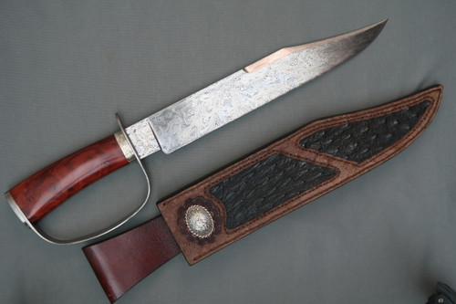 """Kevin Harvey """"IN GOD WE TRUST"""" Damascus Bowie, Right Side"""
