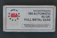 380 Automatic 95 Grain Full Metal Case Ammunition, Top