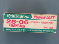25-06 Remington Power-Lokt Ammo Box End