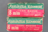 Remington Kleanbore 8MM Mauser Hi-Speed Ammo, Two Boxes